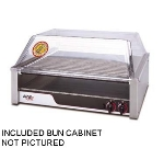Apw Wyott HR-50SBC 50 Hot Dog Roller Grill w/Bun Storage - Slanted Top, 240v