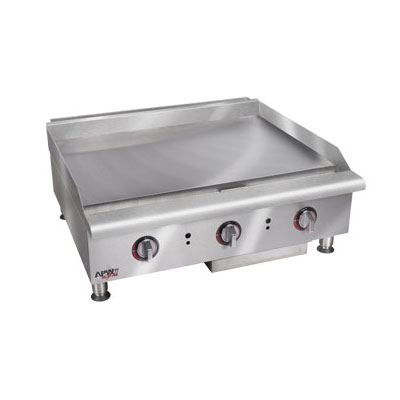 "APW HTG-2460 60"" Gas Griddle - Thermostatic, 1"" Steel Plate, NG"
