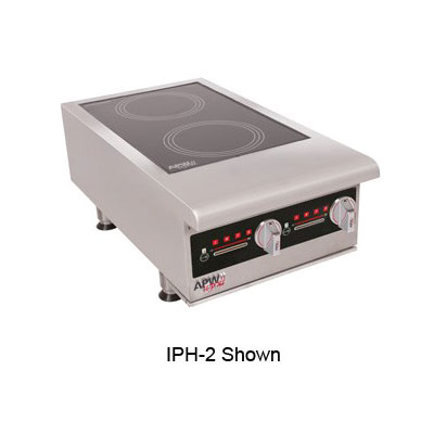 APW IHP-2 Countertop Commercial Induction Cooktop w/ (2) Burners, 208-240v/3ph
