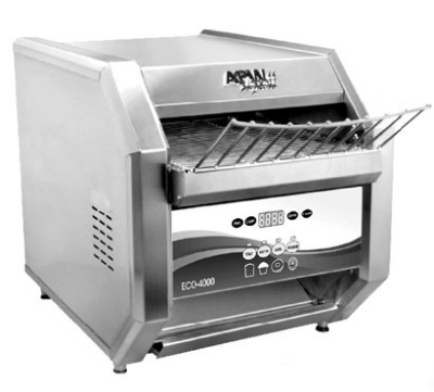 A P W Wyott ECO 4000-500E ECO-4000 Conveyor Toaster, Electronic Controls, 500 units/hr, 208 V