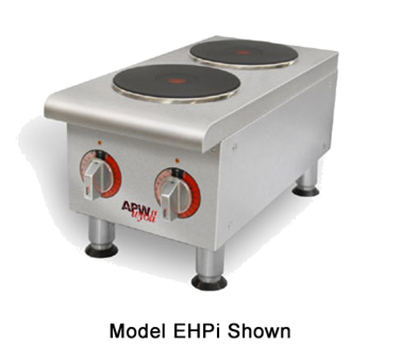APW SEHPI 2-Burner Electric Hotplate - Thermostatic Controls, Smooth Finish, 208v
