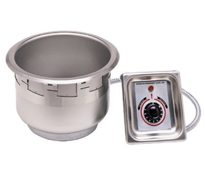 APW SM-50-7D UL 7-qt Round Pan Drop-In Food Warmer w/ Drain, 500 Watt, 120v