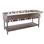 APW Wyott SST-4 Stationary Steam Table w/ 4 Sealed Wells, Coated Steel Legs, 208v/1ph