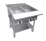 APW Wyott ST2S Stationary Steam Table w/ 2-Exposed Wells & Stainless Legs, 120 V
