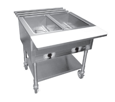 APW Wyott SST5S Stationary Steam Table w/ 5-Sealed Wells & Stainless Legs, 240/1 V