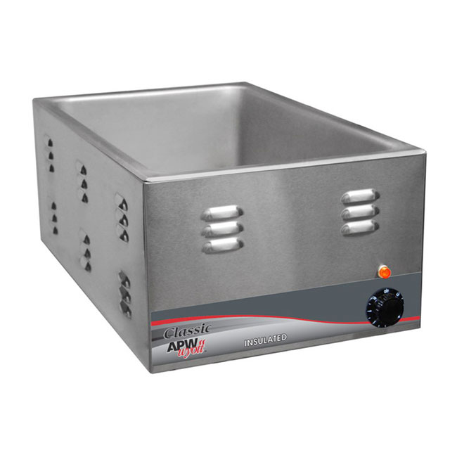 APW W-3VI Countertop Food Warmer w/ 1-Pan Capacity, Wet & Dry Operation, 120v