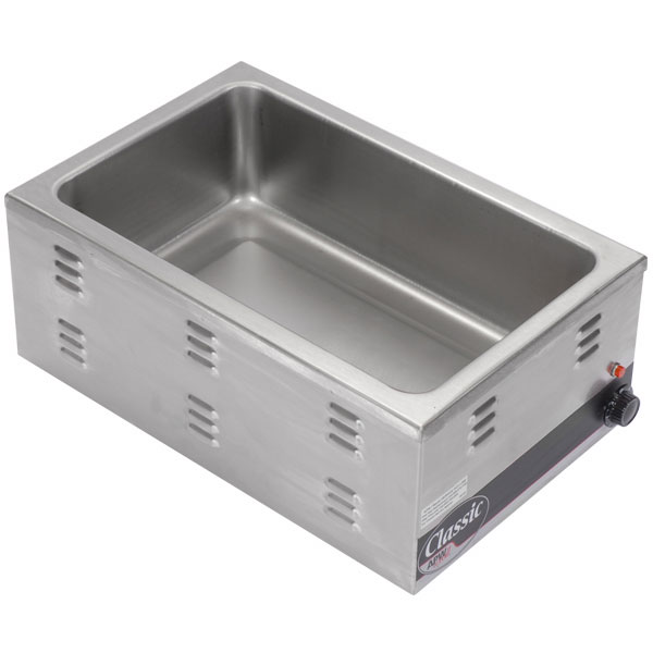 A P W Wyott W-43V Countertop Food Warmer, 12 x 27 in Pan Opening, Wet or Dry, 120 V