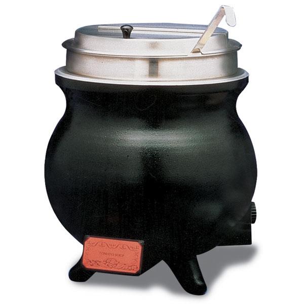 APW WK-1V PKG 11-qt Heavy Duty Aluminum Soup Warmer w/ Infinite Control, 120 V