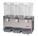 Bakemax BMCDD05 Triple Cold Drink Dispenser w/ 5-gal Capacity per Tank, Front Drip Tray, 115v