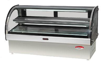 "Bakemax BMCRD05 49"" Full Service Deli Case w/ Curved Glass - (3) Levels, 110v"