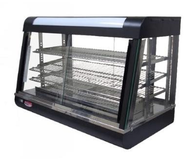 "Bakemax BMCSC01 26"" Self-Service Countertop Heated Display Case w/ Straight Glass - (3) Shelves, 110v"