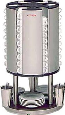 BakeMax BMCW001 Cup Warmer w/ (6) Heated Stacking Units & (84) Cup Capacity, 120v