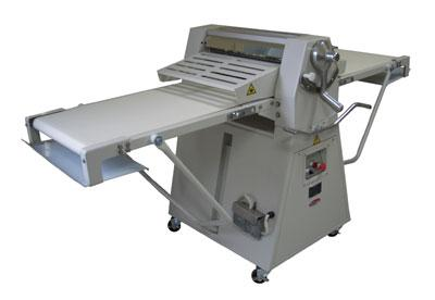 "Bakemax BMFRS03 Floor Model Dough Sheeter, Reversible, 25"" X 95""Work Length"
