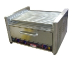 Bakemax BMHBW11 20 Hot Dog Roller Grill w/Bun Storage - Flat Top, 110v