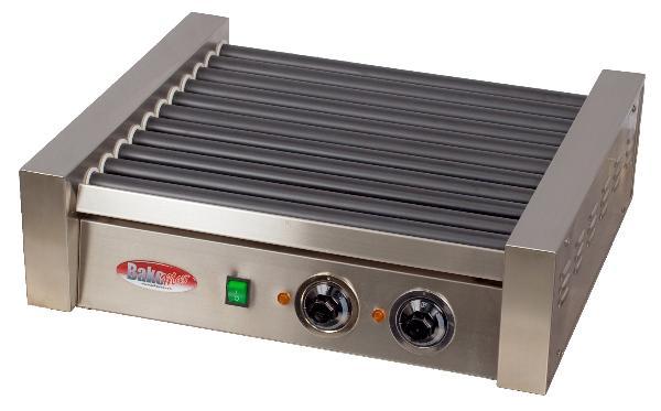 BakeMax BMHG004 20 Hot Dog Roller Grill - Flat Top, 110v
