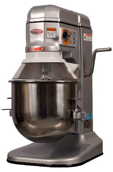 BakeMax BMPM012 12 Qt Planetary Mixer w/ SS Bowl, Dough Hook, Flat Beater, Wire Whip