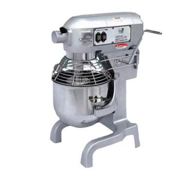BakeMax BMPME20 20 Qt Planetary Mixer w/ SS Bowl, Dough Hook, Flat Beater, Whip, Safety Guard