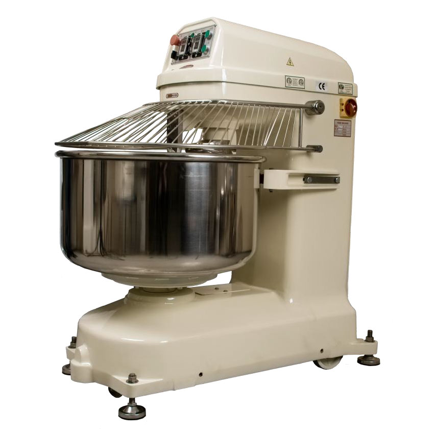 Bakemax BMSM200 Countertop Spiral Mixer - 440-lb Dough Capacity, 2-Speed, Stainless