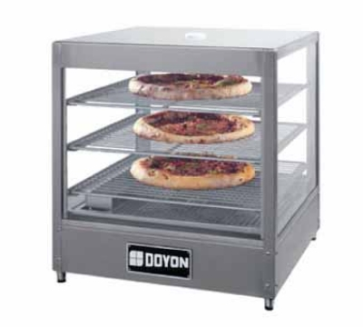 Doyon DRP3 Warmer/Display Case For (3) 18-in Pizzas, Logo