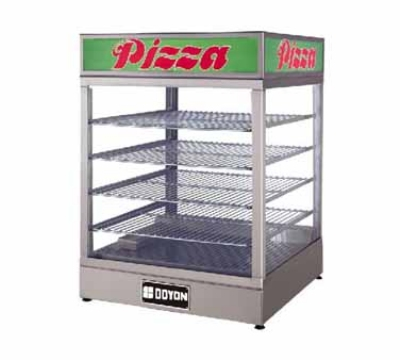 "Doyon DRP4 Warmer/Display Case for (4) 20"" Pizzas, Logo"