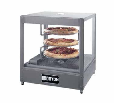 "Doyon DRPR3 Warmer/Display Case for (3) 18"" Pizzas, Revolving Rack"
