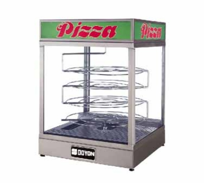 "Doyon DRPR4 Warmer/Display Case for (4) 20"" Pizzas, Revolving Rack, Logo"