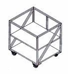 "Doyon PIZ3B 35.25"" x 30.25"" Mobile Equipment Stand for PIZ3 Pizza Oven, Undershelf"