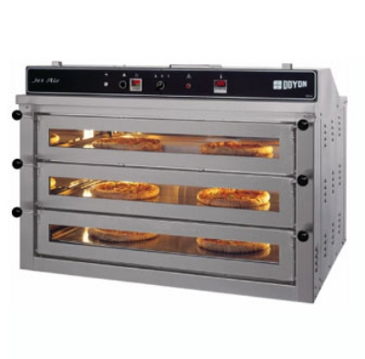 Doyon PIZ6 Triple Deck Countertop Pizza Oven, 220v/1ph
