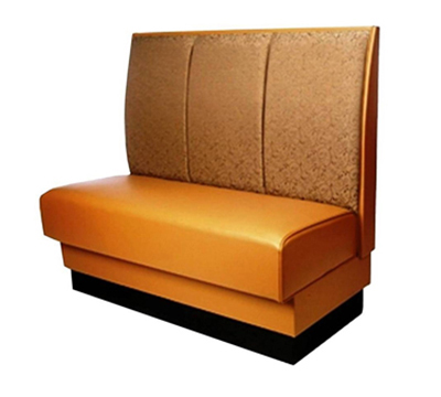 Aaf B3C-S42DGR6 Single Restaurant Booth - Channel Back, Upholstered Seat, 30x42