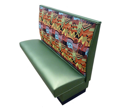 AAF BP-S42GR6 Single Restaurant Booth - Plain Back, Upholstered Seat, 46x42