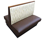 AAF BP-D36GR5 Double Restaurant Booth - Plain Back, Upholstered Seat, 46x36