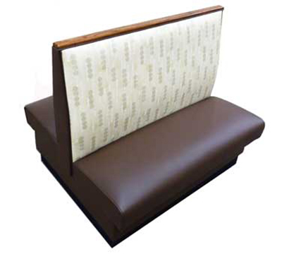 Aaf BP-D48GR5 Double Restaurant Booth - Plain Back, Upholstered Seat, 46x48