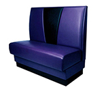 """AAF BVB3/4-48GR5 3/4 Circle Restaurant Booth - V-Shaped Back, Upholstered Seat, 48"""" H"""