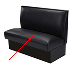 "Aaf BV-SEAT 46"" Booth Seat 4"" Foam Upholstered, Heavy Duty Hardwood Frame, Black"