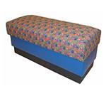 Aaf B-WBGR6 Backless Waiting Bench w/ Upholstered Seat & Hardwood Frame, G