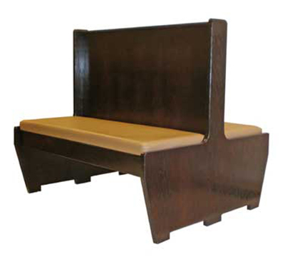 Aaf BW-D48GR6 Double Restaurant Booth - Wood Plain Back, Upholstered Seat, 46x48