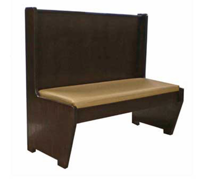 AAF BW-S48DGR6 Single Restaurant Booth - Wood Plain Back, Upholstered Seat, 30x48