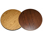 AAF DT36R 36-in Reversible Round Table Top w/ 1-in Thick, Rubber T Mold Edge, Melamine