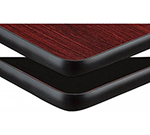 AAF DT2448 Reversible Rectangle Table Top w/ 1-Thick, Rubber T Mold Edge, 24x48-in Melamine
