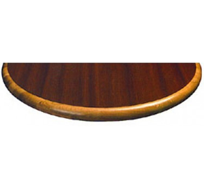 Aaf LTW36R 36-in Round Table Top w/ Wood Waterfall Drop Edge 1.12-in Thick