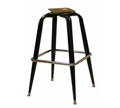 AAF MS18BC Barstool Base w/ Single Ring & Black Gloss, Chrome