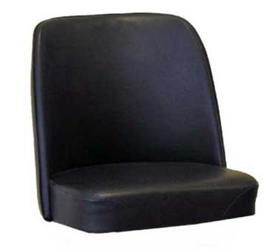 Aaf MS18B-L Barstool Bucket Seat, Black, Imported Vinyl