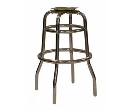 Aaf MS2R Barstool Base w/ Double Ring, Chrome