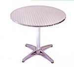 AAF OATH24 24-in Round Patio Table w/ Dining Height, & Umbrella Hole, Stainless Top & Frame