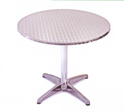 AAF OAT28 28-in Round Patio Table w/ Dining Height, Stainless Top & Frame