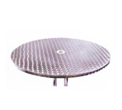 Aaf OATH32 32-in Round Patio Table w/ Dining Height, & Umbrella Hole, Stainless Top & Frame