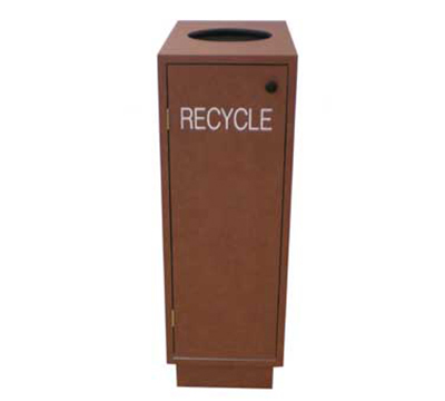 Aaf RBBASIC Recycle Bin w/ 32-gal Rigid Liner & Top Hole, 1-in Thick High Impact Melamine