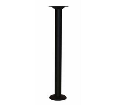 Aaf TBCD30 Table Base w/ 3-in Column, Dining Height & Core Drilled, Black Textured Finish