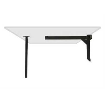 Aaf TCL33 33-in Cantilever Table Base Steel Angle Iron Fits 42-in Top Black Enamel Painted