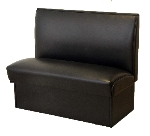 AAF BQS-S42(4) BLK Double Restaurant Booth - Plain Back, Vinyl Seat, 42x46